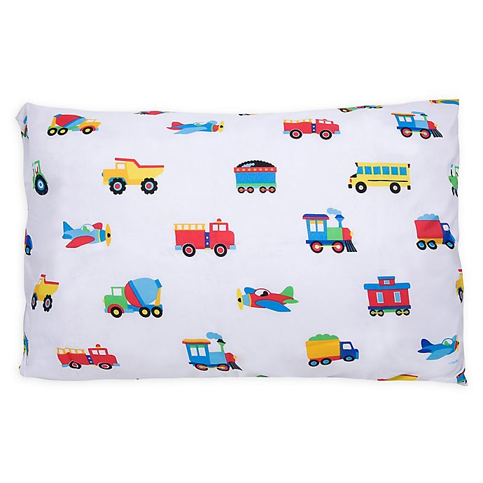 Wildkin Trains Planes and Trucks Standard Pillowcase in ...