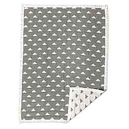 Living Textiles Muslin Jacquard Baby Blanket in Grey