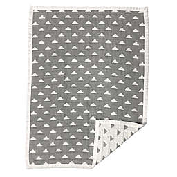 Living Textiles Muslin Jacquard Baby Blanket in Grey