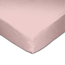 Living Textiles Muslin Fitted Crib Sheet in Pink