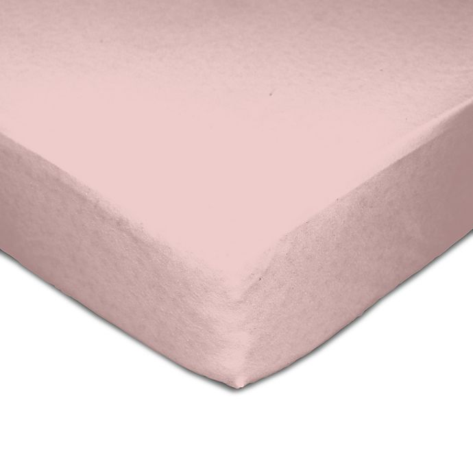 Alternate image 1 for Living Textiles Muslin Fitted Crib Sheet in Pink