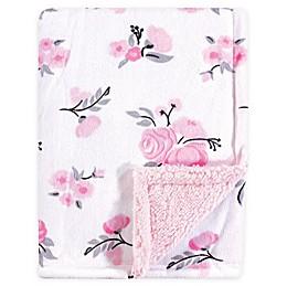 Hudson Baby® Mink Floral Baby Blanket in Pink