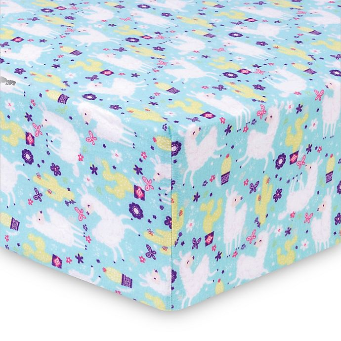 Trend Lab 174 Llama Paradise Deluxe Flannel Fitted Crib Sheet
