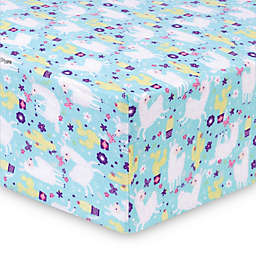 Trend Lab® Llama Paradise Deluxe Flannel Fitted Crib Sheet