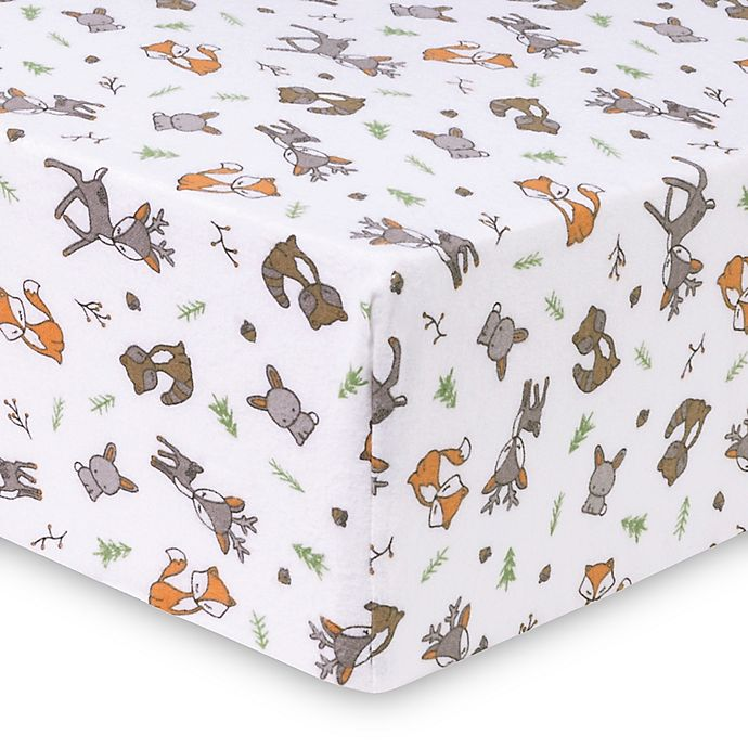 Alternate image 1 for Trend Lab® Forest Nap Deluxe Flannel Fitted Crib Sheet