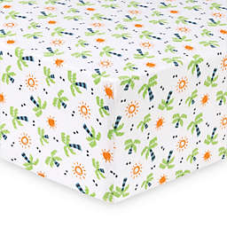 Trend Lab® Dinosaur Palm Deluxe Flannel Fitted Crib Sheet