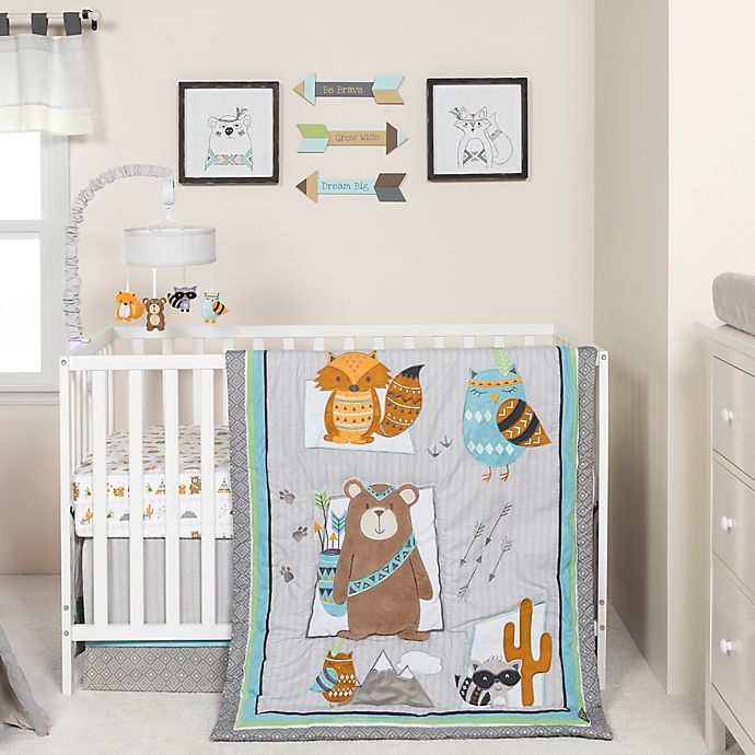 Alternate image 1 for Trend Lab® Lodge Buddies 3-Piece Crib Bedding Set