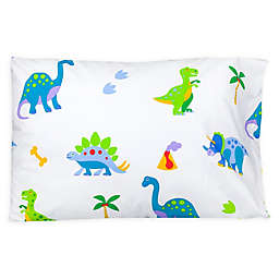 Wildkin Dinosaur Land Standard Cotton Pillowcase in Blue