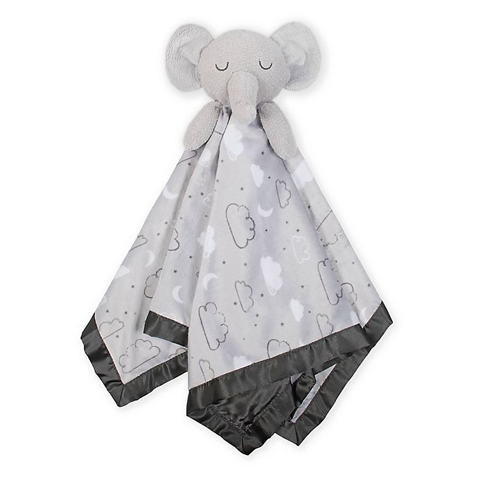 Alternate image 1 for Just Born® XL Plush Elephant Security Blanket in Grey