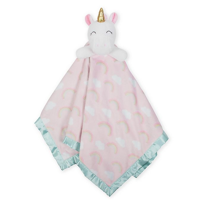 Alternate image 1 for Just Born® XL Plush Unicorn Security Blanket in Pink