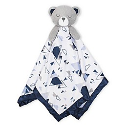 Just Born® XL Plush Bear Security Blanket in White/Blue