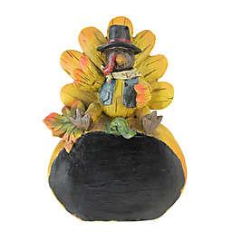 Northlight 8.25-Inch Turkey Chalkboard Table Top Figurine in Yellow