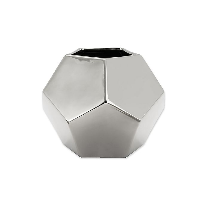 Alternate image 1 for Global Views Faceted Small Vase in Silver