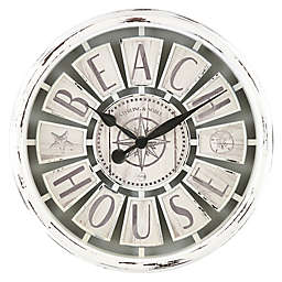 Sterling & Noble™ Beach House 15.5-Inch Wall Clock in White