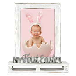 My First Easter 5-Ich x 7-Inch Photo Frame in White