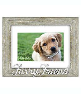 """Portarretratos con frase """"Furry Friend"""" en gris"""