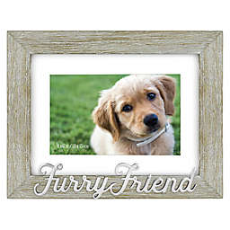 Furry Friend 4-Inch x 6-Inch Photo Frame in Grey