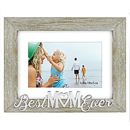 Best Mom Ever 4-Inch x 6-Inch Photo Frame in Grey