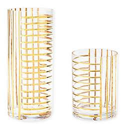 Global Views Grid Glass Vase
