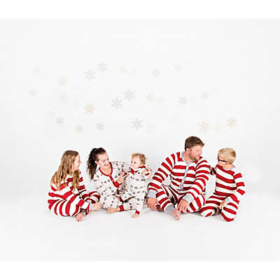 Burt's Bees Baby® Rugby Stripe Holiday Matching Family Pajamas in Red