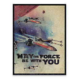 Star Wars™ May The Force Be With You Galactic Watercolor Canvas Wall Art