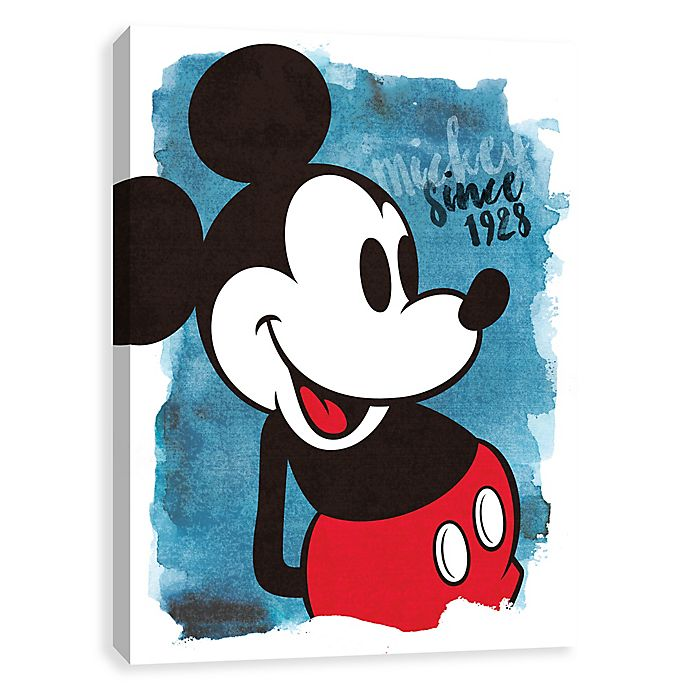 Alternate image 1 for Disney® Watercolor Mickey Since 1928 Canvas Wall Art