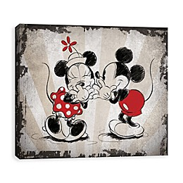 Disney® Mickey & Minnie Laughing Vintage Canvas Wall Art