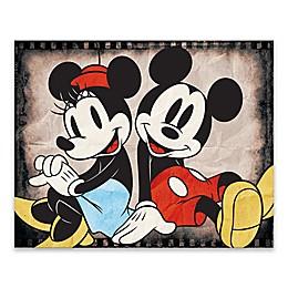 Disney® Mickey & Minnie Sitting Canvas Wall Art