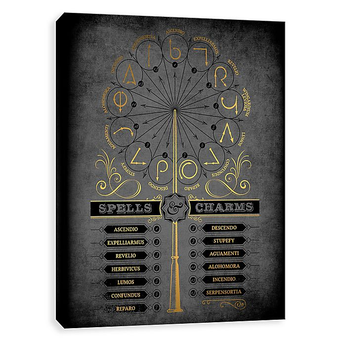 Alternate image 1 for Harry Potter™ Spells & Charms Canvas Wall Art