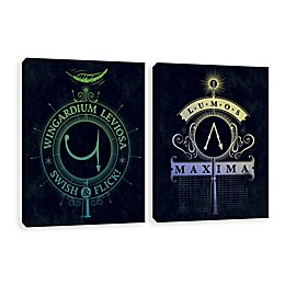 Harry Potter™ Lumos & Wingardium Canvas Wall Art Set