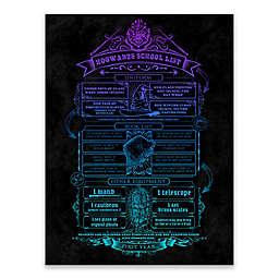 Harry Potter™ Hogwarts School List Canvas Wall Art