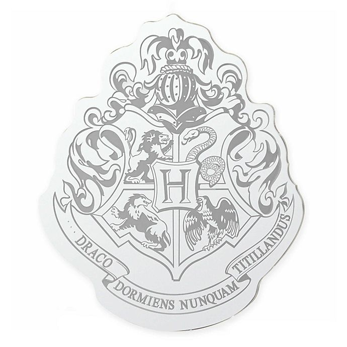Harry Potter Hogwarts Crest Mirror Bed Bath Beyond