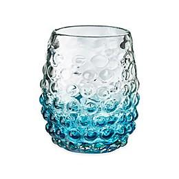 Global Amici Catalina Double Old Fashioned Glasses in Aqua (Set of 4)