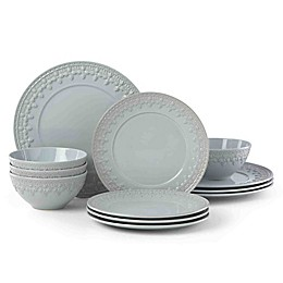 Lenox® Chelse Muse Fleur Blue™ 12-Piece Dinnerware Set