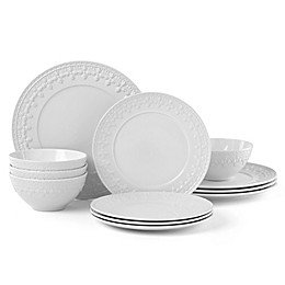 Lenox® Chelse Muse Fleur White™ 12-Piece Dinnerware Set
