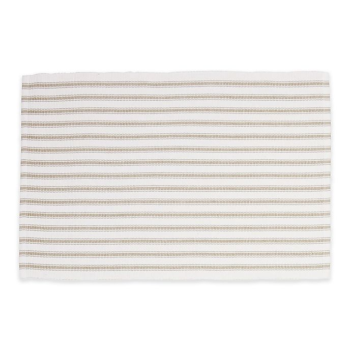 Alternate image 1 for C&F Home Ticking Stripe Placemats (Set of 4)