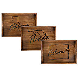 Core™ Home State Rectangular Wood Serving Tray Collection
