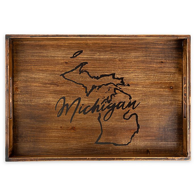 Alternate image 1 for Core™ Home Michigan Rectangular Serving Tray in Tan