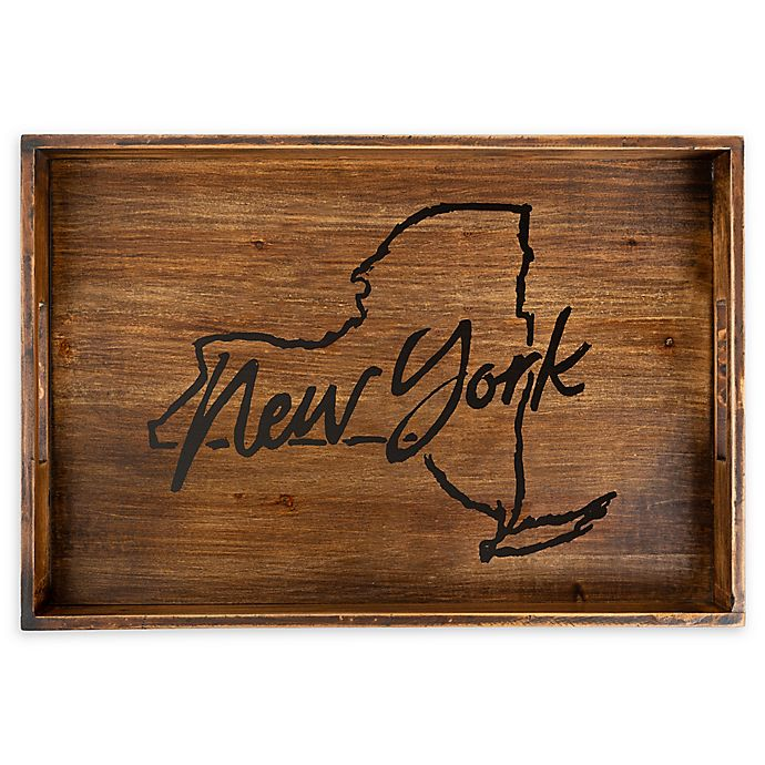 Alternate image 1 for Core™ Home New York Rectangular Serving Tray in Tan