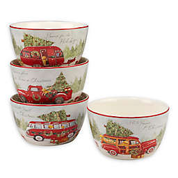 Certified International Home for Christmas by Susan Winget 24 oz. Ice Cream Bowls (Set of 4)