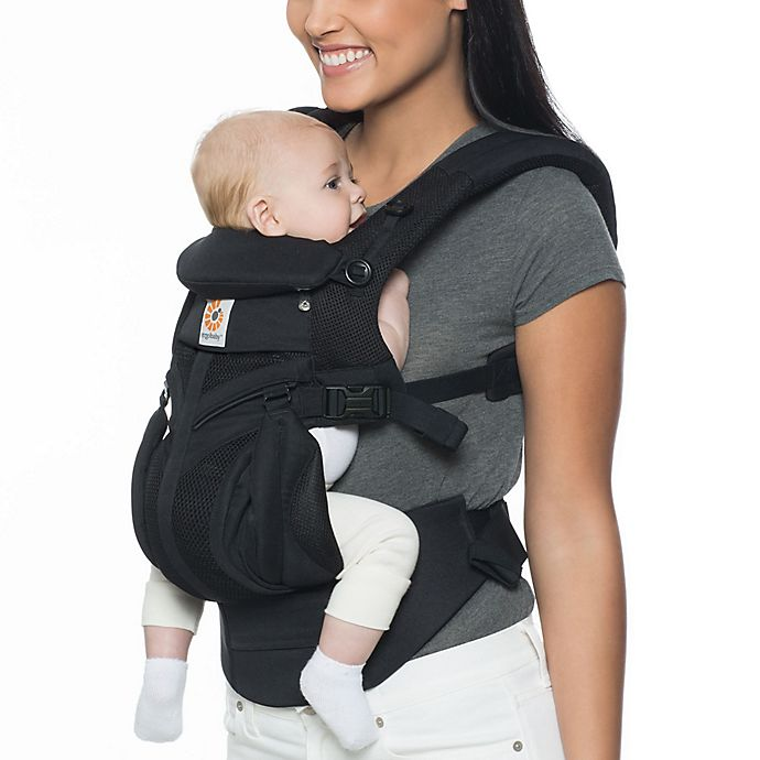 Alternate image 1 for Ergobaby™ Omni 360 Cool Air Mesh Baby Carrier in Black