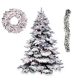 Vickerman  Flocked Alaskan Pine Christmas Décor Collection