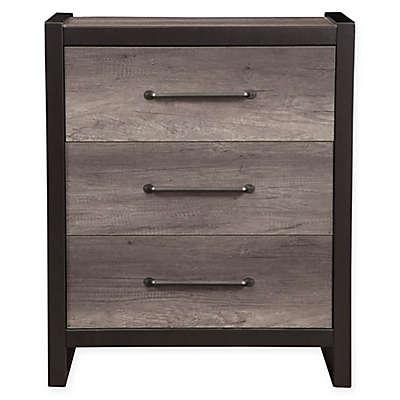 Alpine Furniture Monarch Drawer Chest in Grey/Black