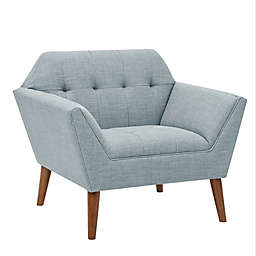 Ink+Ivy Polyester Upholstered Newport Chair in Light Blue