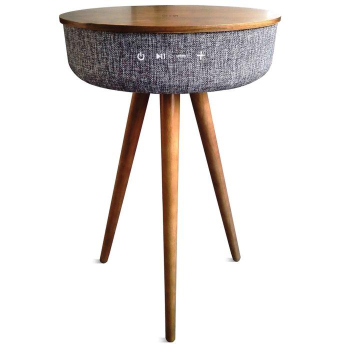 mid-century bluetooth speaker table