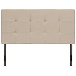Steven Adjustable Linen Headboard in Beige