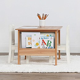 Tot Tutors 3-Piece Journey Storage Table and Chairs Set in Natural