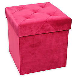 Europe Ware Velvet Foldable Ottoman