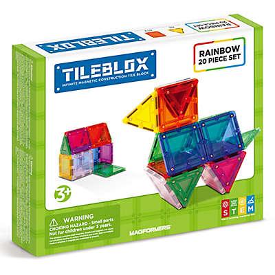 Tileblox Rainbow 20-Piece Building Set