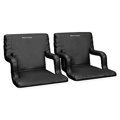 Home-Complete Stadium Chairs in Black (Set of 2)